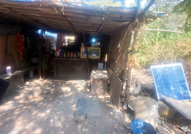 Solar lighting system for rural homes